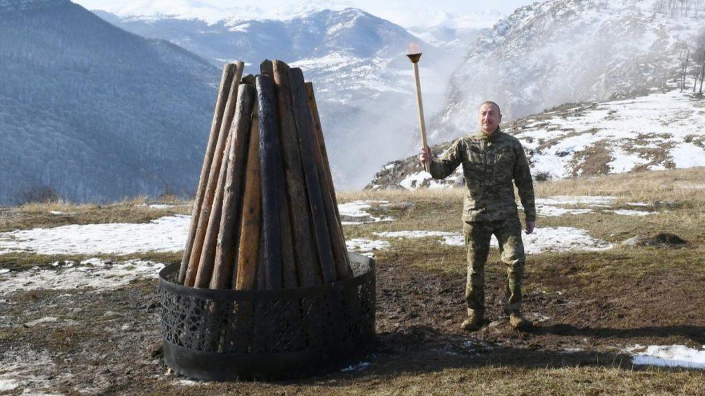 Aliyev, Şuşa'dan ulusa seslendi: İşte o gün geldi, bu tarihi bir olaydır